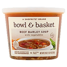 Bowl & Basket Beef Barley Soup with Vegetables, 20 oz, 20 Ounce