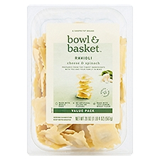 Bowl & Basket Pasta Cheese & Spinach Ravioli Value Pack, 20 Ounce
