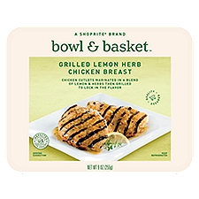 Bowl & Basket Chicken Breast, Grilled Lemon Herb, 9 Ounce