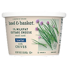 Bowl & Basket Cottage Cheese Lowfat 1% Milkfat with Chives, 16 Ounce
