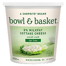 Bowl & Basket Cottage Cheese Fat Free Small Curd 0% Milkfat, 24 Ounce