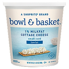 Bowl & Basket Cottage Cheese Lowfat Small Curd 1% Milkfat, 24 Ounce