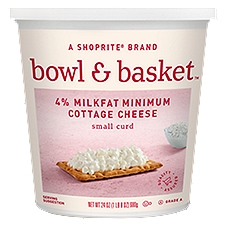 Bowl & Basket Cottage Cheese Small Curd 4% Milkfat Minimum, 24 Ounce
