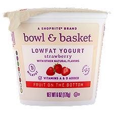 Bowl & Basket Lowfat Yogurt Fruit on the Bottom Strawberry, 6 Ounce