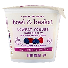 Bowl & Basket Lowfat Yogurt Fruit on the Bottom Mixed Berry, 6 Ounce