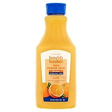 Bowl & Basket Juice, No Pulp 100% Orange with Calcium + Vitamin D, 52 Fluid ounce