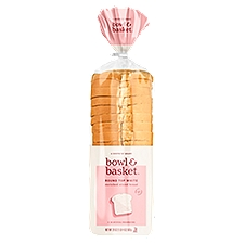 Bowl & Basket Bread Round Top White Enriched Sliced, 20 Ounce