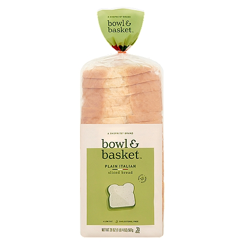 bowl & basket plain italian sliced bread, 20 oz