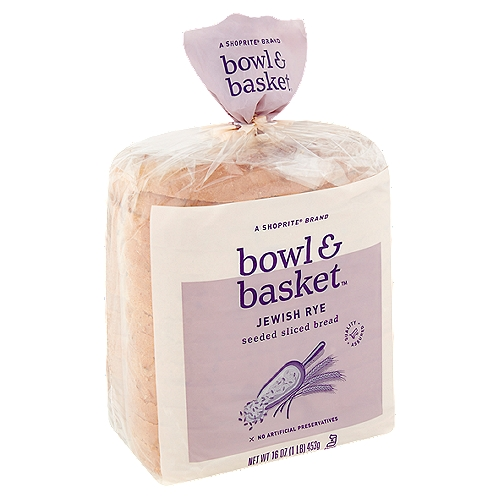 Bowl & Basket Jewish Rye Seeded Sliced Bread, 16 oz