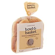 Bowl & Basket Hamburger Rolls Enriched Sliced Potato, 15 Ounce