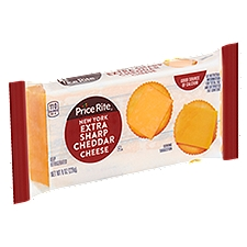 PriceRite New York Extra Sharp Cheddar Cheese Bar, 8 Ounce