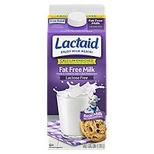 LACTAID Milk - Fat Free, 64 Fluid ounce
