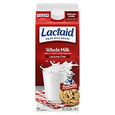 LACTAID Milk - Whole, 64 Fluid ounce