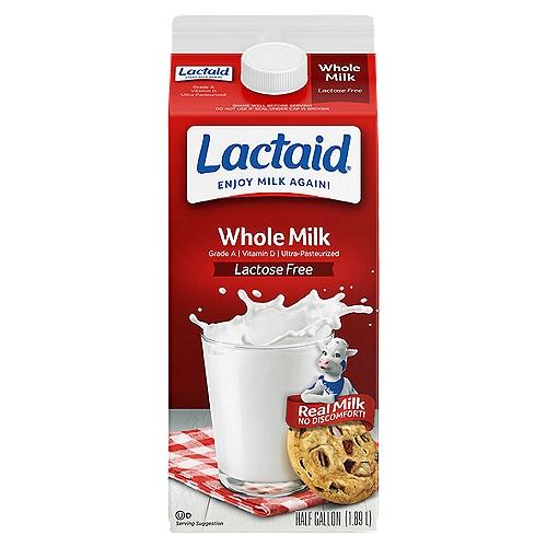 1/2 Gallon - Grade A. Vitamins A & D. 100% lactose free. Ultra-Pasteurized.