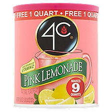 4C Pink Lemonade Drink Mix, 18.6 Ounce