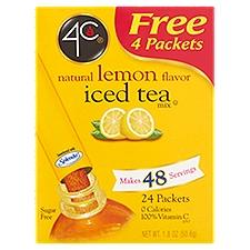 4C Totally Light Tea2Go - Lemon Iced Tea Mix, 24 Each