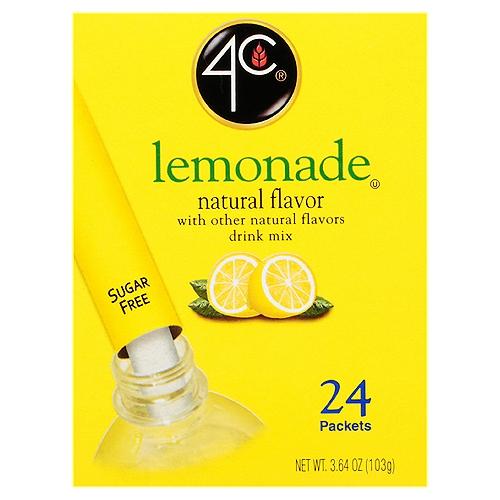 Natural flavor. 100% Vitamin C (DV), 0 calories, 0 carbs. Sugar free. Sweetened with Splenda brand. 20 Packets each makes 16.9 fl oz (0.5 l).