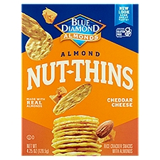 Nut-Thins Cracker Snacks Almond Cheddar Cheese Almond & Rice, 4.3 Ounce