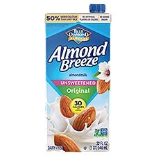 Blue Diamond Unsweetened Original Almond Milk, 32 Fluid ounce