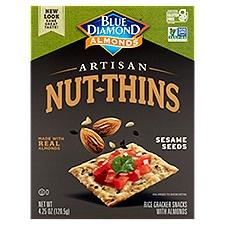 Blue Diamond Almonds Cracker Snacks Brown Rice Almonds & Sesame Seeds, 4.25 Ounce