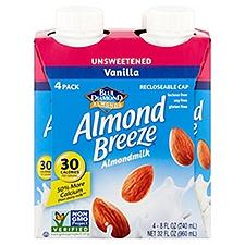 Blue Diamond Almond Breeze Vanilla Almondmilk - 4 Pack, 960 Millilitre