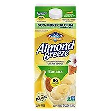 Blue Diamond Almond Breeze Almond Milk - Banana, 0.5 Gallon