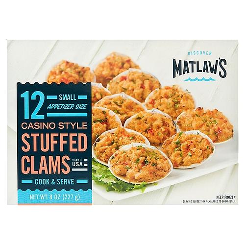 12 stuffed clams