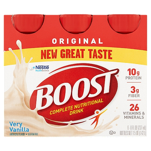 We've got a new great taste you're sure to love! Enjoy BOOST Original Nutritional Drink as a mini-meal or between-meal snack.