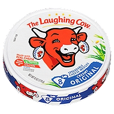 THE LAUGHING COW Creamy Swiss Original Spreadable Cheese Wedges, 6 Ounce