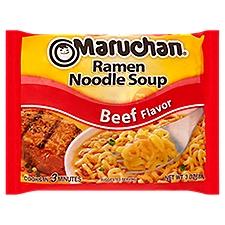 Maruchan Soup - Ramen Noodle Beef Flavor, 3 Ounce