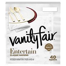 Vanity Fair Impressions Paper Napkins, 40 Each