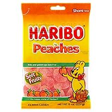 Haribo Gummi Candy, Peaches, 8 Ounce