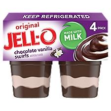 Jell-O Chocolate Vanilla Swirls Pudding Snacks, 15.5 Ounce