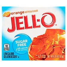 Jell-O Orange Gelatin Dessert, 0.3 Ounce