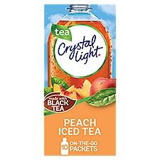 Crystal Light On-the-Go Peach Iced Tea Drink Mix Packets, 19.8 Ounce