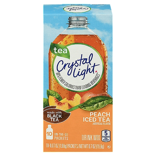 Sugar-free and just 5 calories per serving. Convenient, individual packets; just add to your bottled water and shake. Each individual packet makes 16 oz. (2 servings). Gluten-free; Kosher-certified.