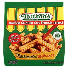 Nathan's Famous Jumbo Crinkle Cut French Fries!, 1.75 Pound