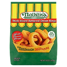 Nathan's Famous Thick Sliced Battered Onion Rings, 16 Ounce