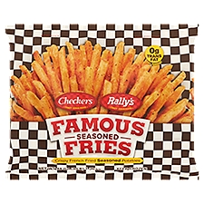 Checkers & Rally's Famous Fries Crispy French Fried Seasoned Potatoes, 48 Ounce