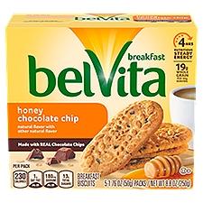 Belvita Honey Chocolate Chip Breakfast Biscuits - 5 ct, 8.8 Ounce