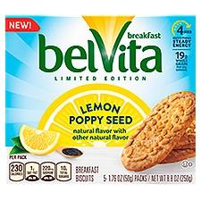 Belvita Breakfast Biscuits, Lemon Poppy Seed, 8.8 Ounce