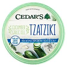 Cedar's Tzatziki - With Cucumber & Garlic, 12 Ounce
