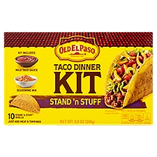 Old El Paso Taco Dinner Kit - Stand'n Stuff, 8.8 Ounce