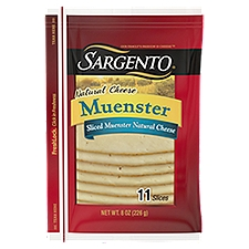 Sargento Deli Style Slices - Muenster Cheese, 8 Ounce