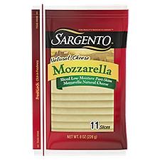 Sargento Natural Sliced Mozzarella Cheese, 8 Ounce