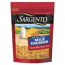 Sargento Off the Block Mild Cheddar Fine Cut Shredded Cheese, 8 Ounce