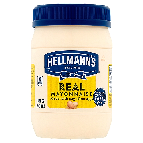 Hellmann's Real Mayonnaise is proudly made with real, simple ingredients like cage-free eggs (at least 50% in every pack), oil and vinegar.