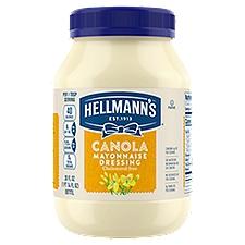 Hellmann's Mayonnaise Dressing Canola Cholesterol Free, 30 Ounce