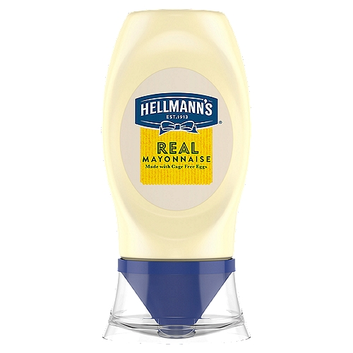 Hellmann's Real Mayonnaise is proudly made with real, simple ingredients like cage-free eggs (at least 50% in every pack), oil and vinegar. We know that to really 'Bring Out The Best'