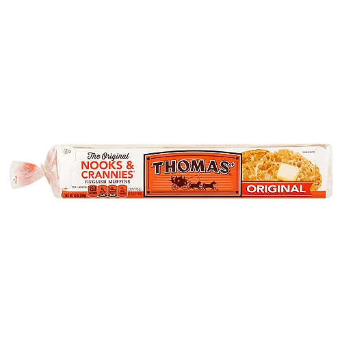 The original Nooks & Crannies English Muffin toasts up crunchy on the outside and soft on the inside.